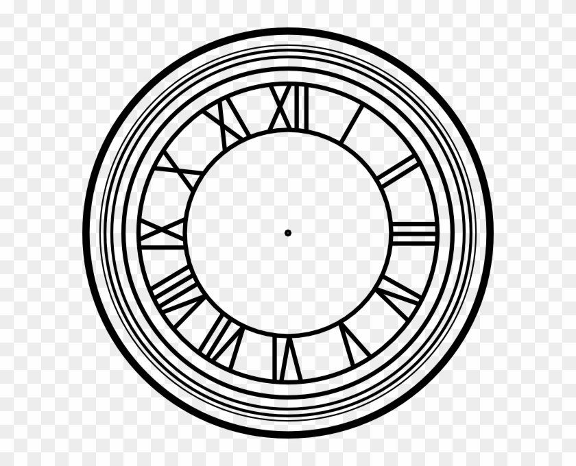 Roman Numeral Clock Stencils Clipart - Back To The Future Clock Tower Time #160447