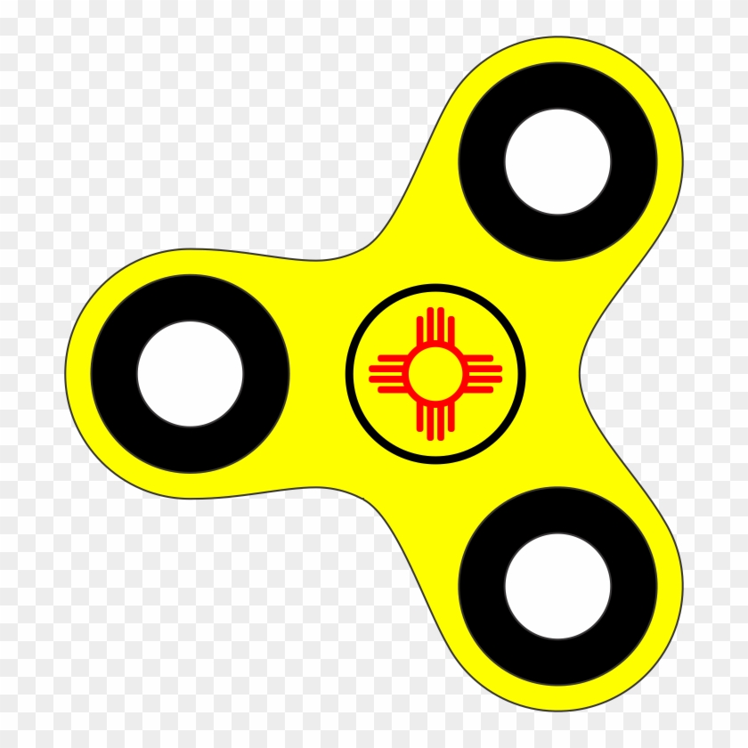 Zia Flag Fidget Spinners - Gifts From New Mexico #160512