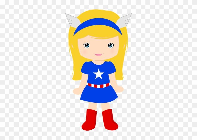 Super Girl Clipart Printable - Capitan America Girl Dibujo #160673