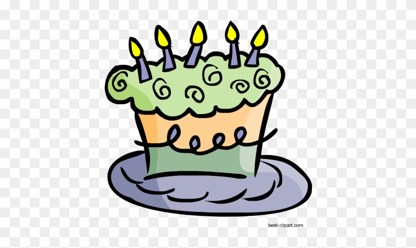 Funky Birthday Cake With Candles Free Png Clip Art