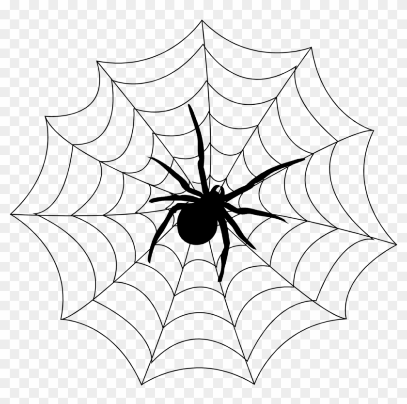 Spider On Web Clipart #160919