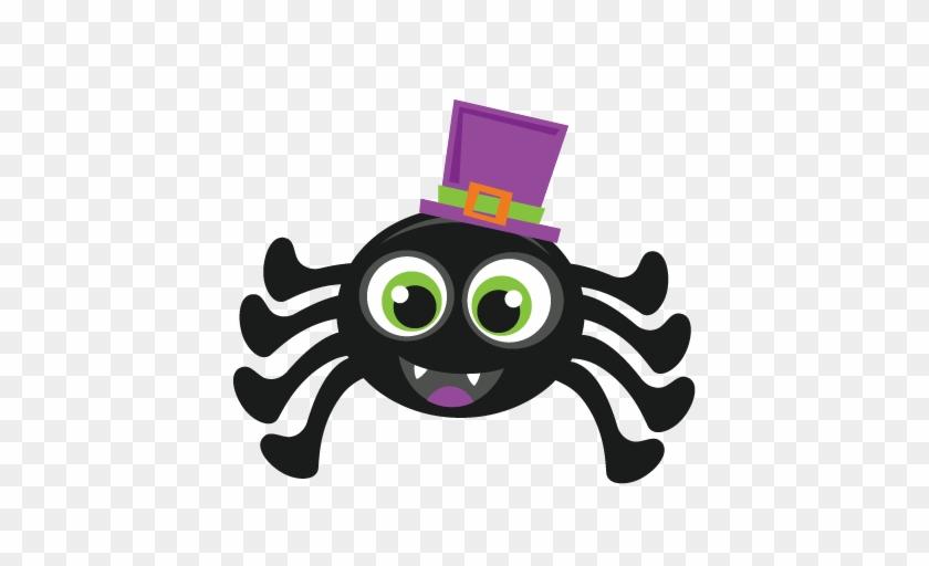 Halloween Spider Scrapbook Cut File Cute Clipart Files - Halloween Spider Cute #161266