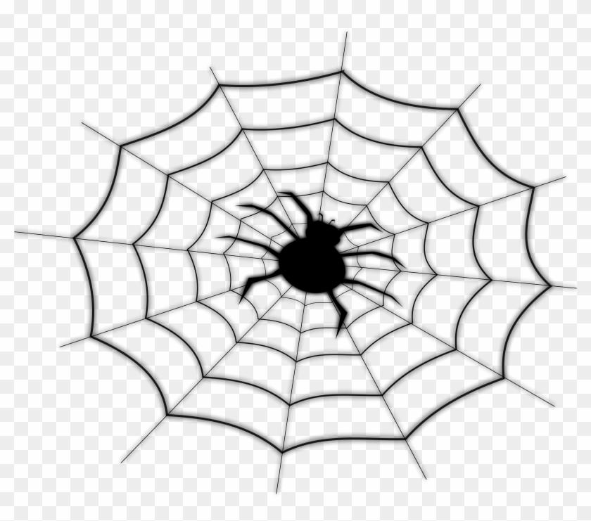 On Spider Net - Spider Web Shower Curtain #161365