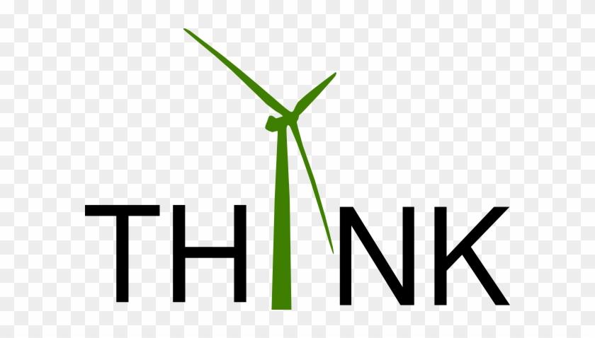 Think Green Fund Clip Art At Clker - Wind Turbine Clip Art - Free