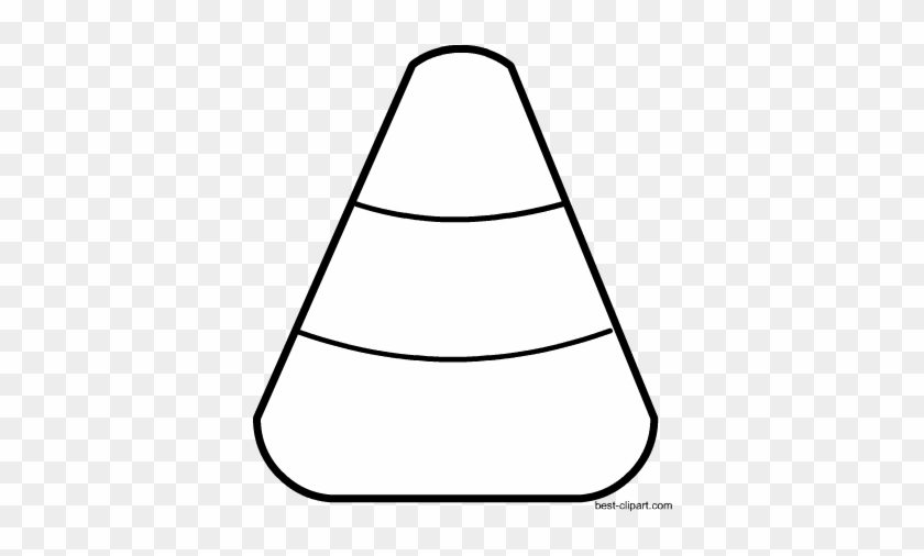 Black And White Halloween Clip Art - Candy Corn #161783