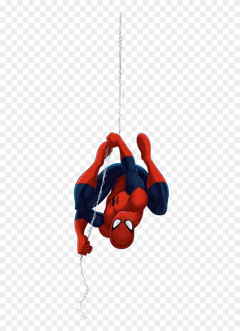 spider ultimate spider man upside down free transparent png