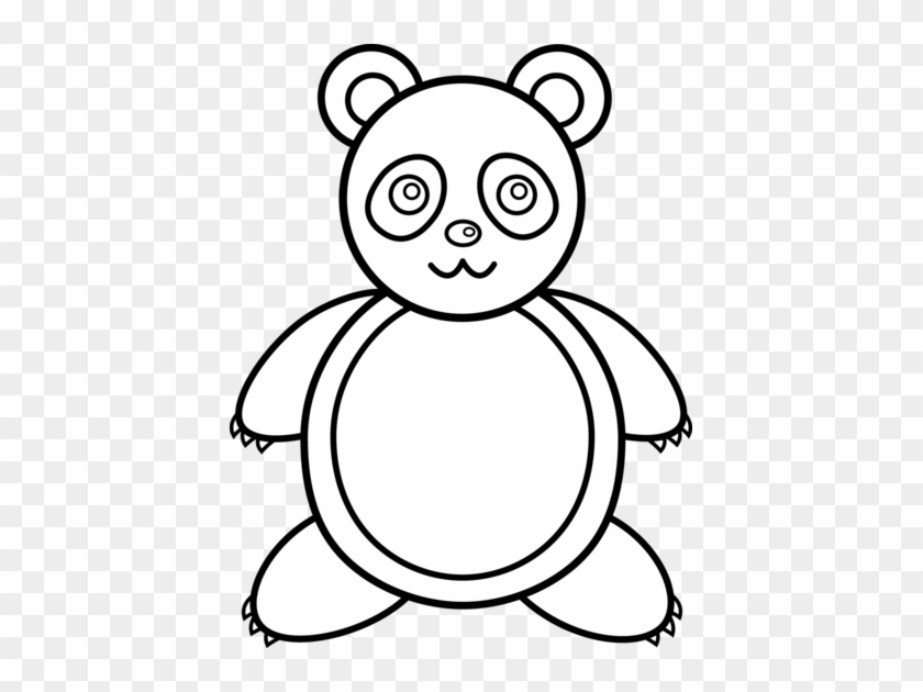 Panda Bear Line Art Valentine Teddy Bear Coloring Pages Free