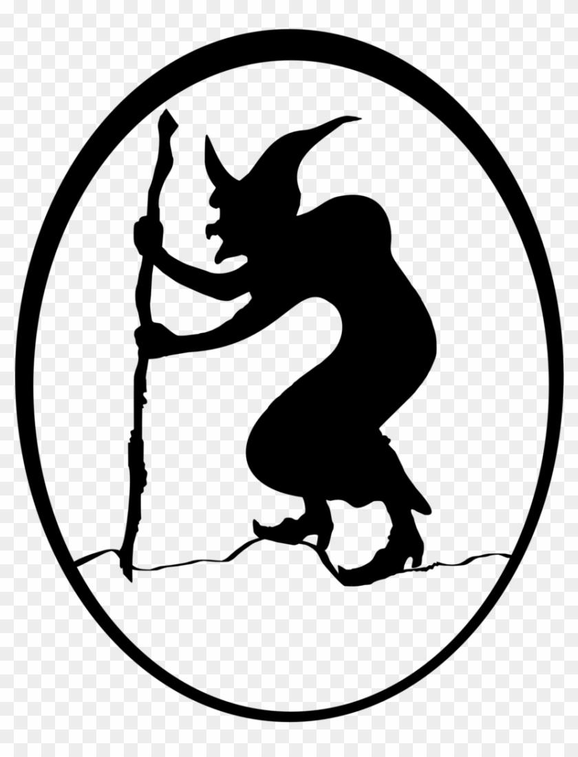 Clipart - Halloween - Siluetas De Brujas Para Imprimir #162017
