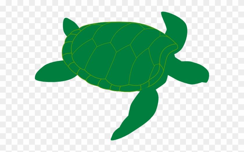 Green Sea Turtle Clip Art - Sea Turtle Silhouette Vector #162629