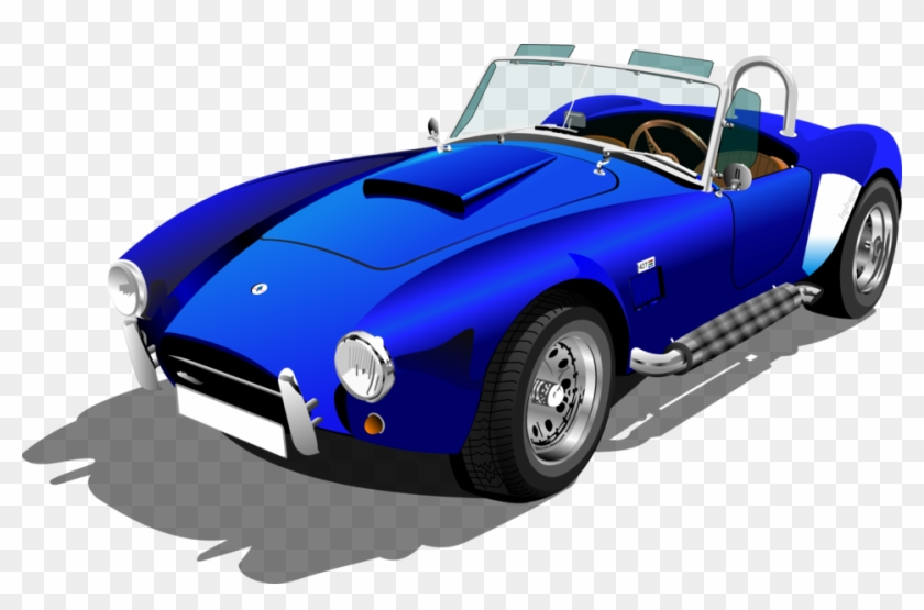 Blue Shelby Cobra - Sports Car Clip Art #162921