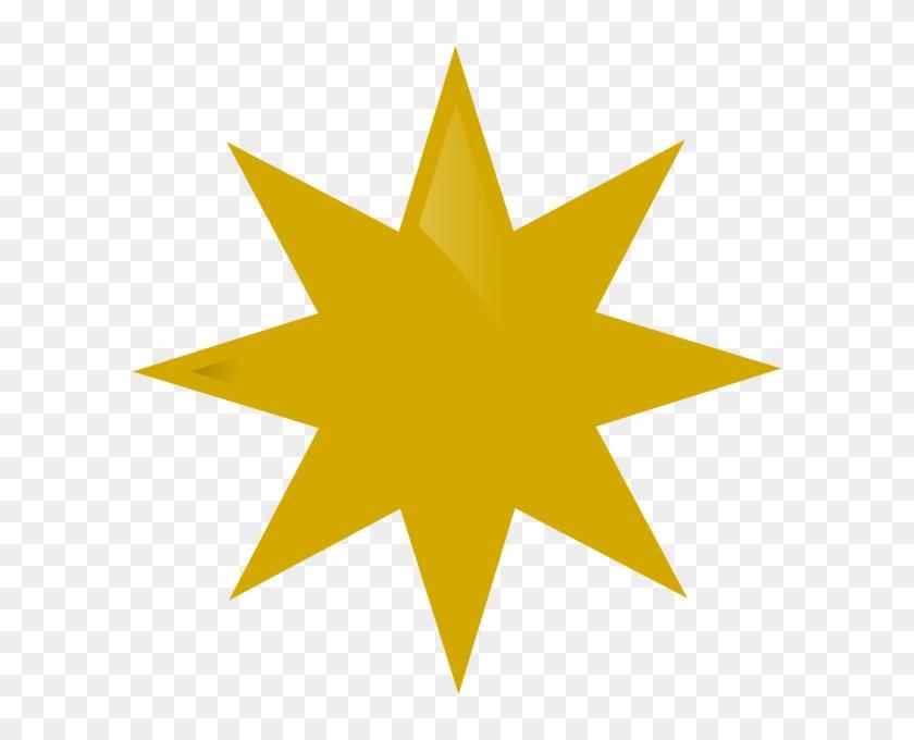 Gold Star Clip Art At Clker Com Vector Clip Art Online - Sword With Wings Symbol #163155