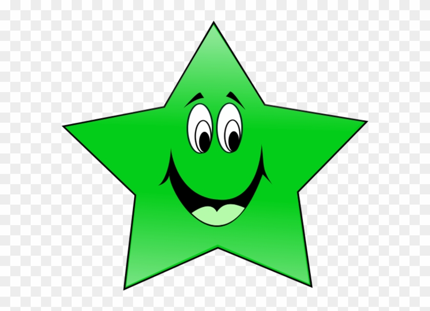 28 Collection Of Smiling Eyes Clipart - Green Star Clipart #163419