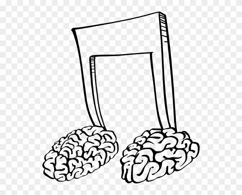 Free Vector Brain Notes Clip Art - Music Notes In The Brain #163680