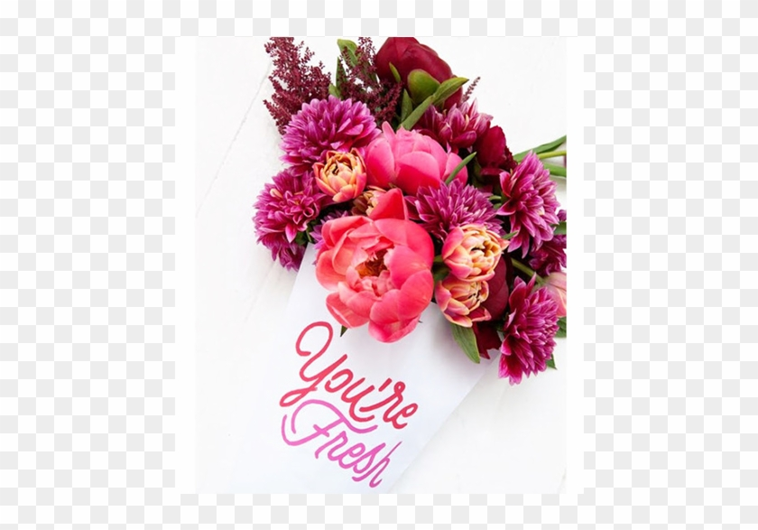Adorable Bouquet Of Flowers With Vibrant Colors And - Ms Beauty Glow #861983