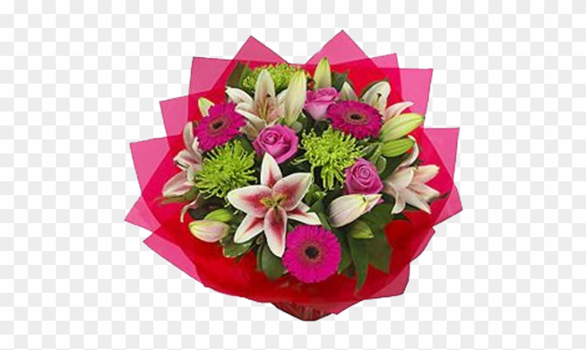 Vibrant Handtied Bouquet From Bethlehem Floral Studio - Pink And Green Wedding Flowers #862003