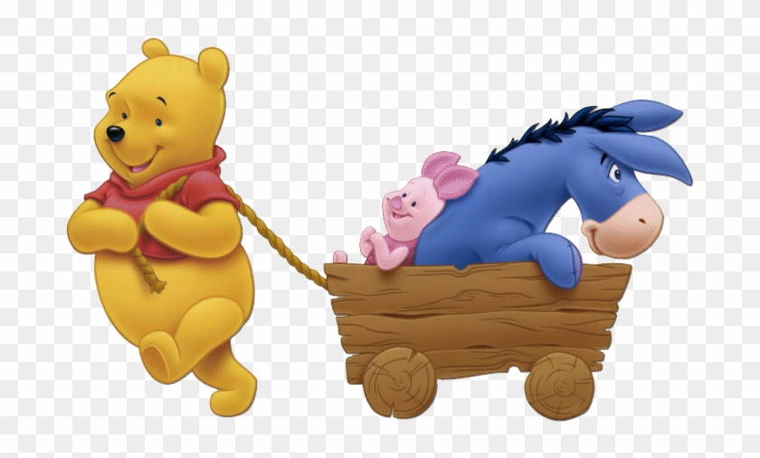 Winnie The Pooh Group Clipart Pic - Winnie The Pooh Piglet And Eeyore #862133