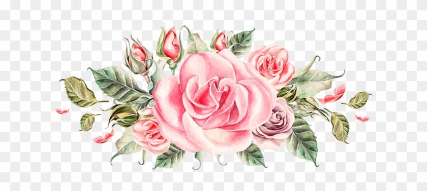 Flower Bouquet Watercolor Painting Clip Art - Drawn Flowers Png #862205