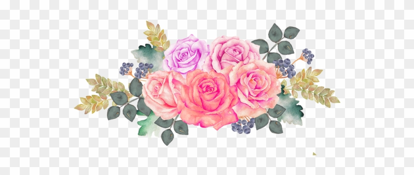 #freetoedit#bloom #pink #frame #flower #border #flowers - Watercolor Painting #862272