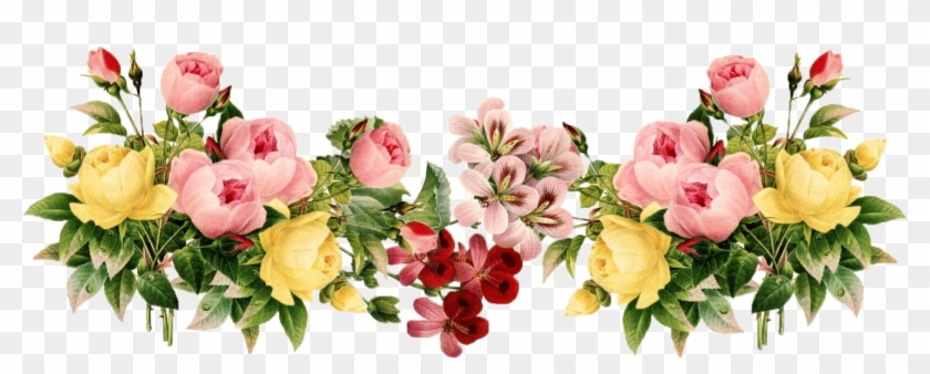 Flower Transparent Background - Flowers Border Line Png #862319