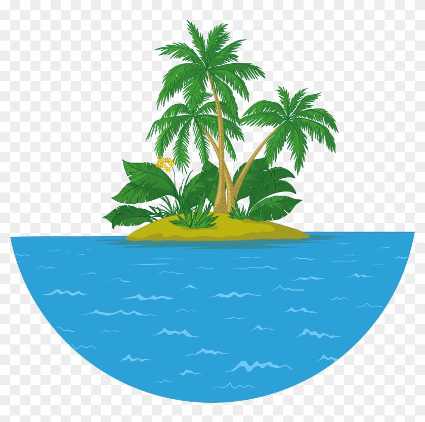 Island Islet Royalty-free Clip Art - Palm Tree Vector #862583