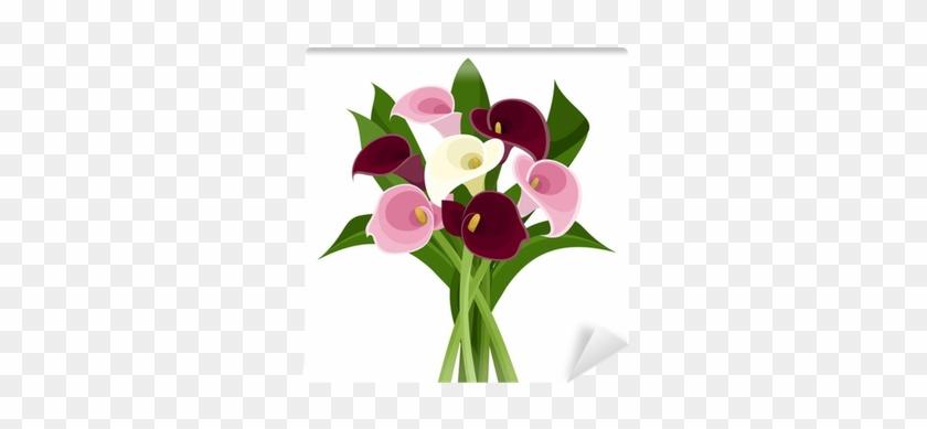 Bouquet Of Colored Calla Lilies - Calla Lili Clipart #862620