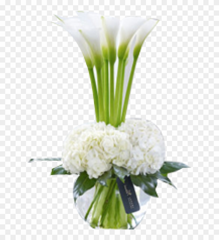 This Chic And Contemporary Hand-tied Bouquet Is Rich - Calla Lily In Vase #862663