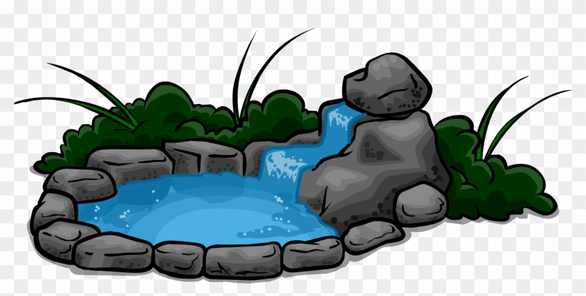 Waterfall Pond Sprite 003 Cartoon Pond Png Free Transparent Png Clipart Images Download