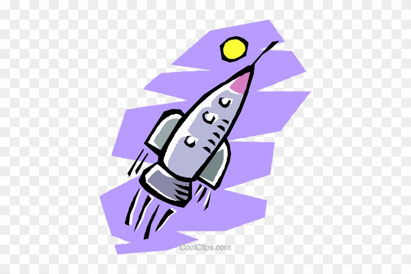 Rocket Ship Flying Through Outer Space Royalty Free - Outer Space #863117