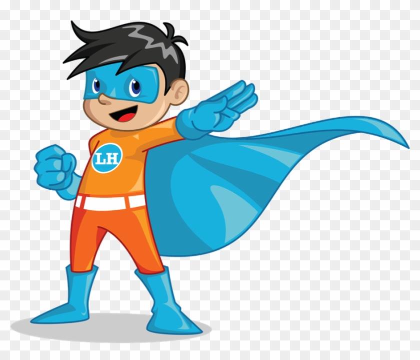 Hero Clipart Little Superhero - Kid Superhero Vector #863396