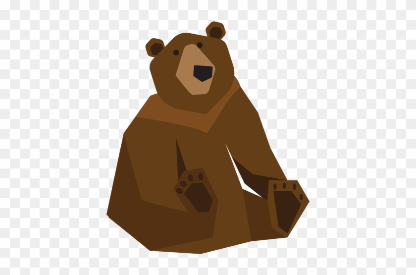 Grizzly Bear Sitting Illustration Transparent Png - Bear #863677