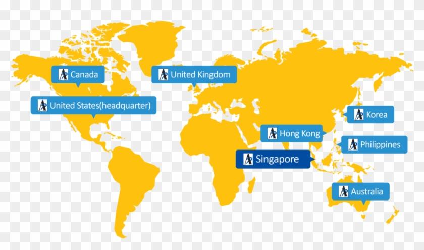 Autism Partnership Singapore Global Map - World Map - Free ...
