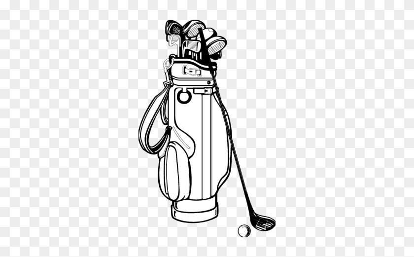 Golf Bag Drawing Golf Club Bag Clip Art Golf Bag And Clubs Flask Free Transparent Png Clipart Images Download