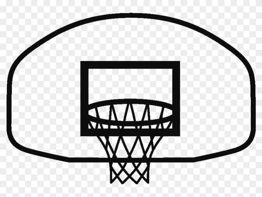 Basketball Goal Cliparts - Line Art #864411