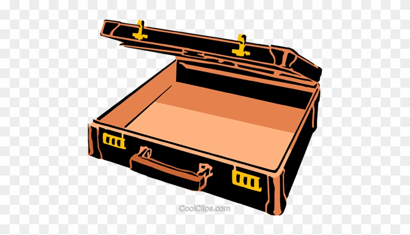 Open Briefcase Royalty Free Vector Clip Art Illustration - Briefcase Clip Art #864703