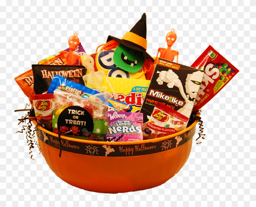 Zoom - Basket Of Halloween Candy Png #865652