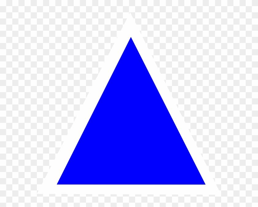 Triangle Blue Shape Computer Icons Clip Art - Blue Triangle