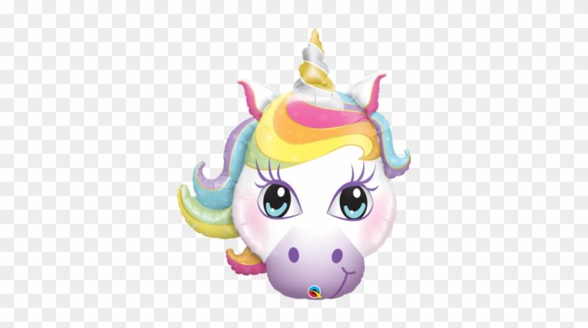 "Qualatex Foil Shape 38"" Magical Unicorn - Unicorn Head Balloon #866693"