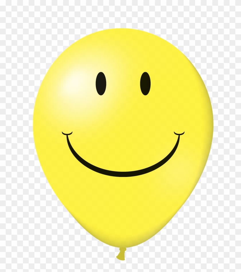 "V-t™ 17"" Latex Balloons ""smiley"" - Yellow Balloon Happy Face Png #866937"