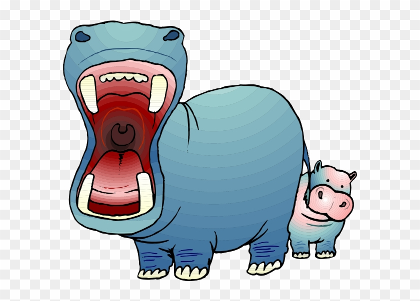 Baby Hippo Crying Clipart Front On Hippo Cartoon Free Transparent Png Clipart Images Download