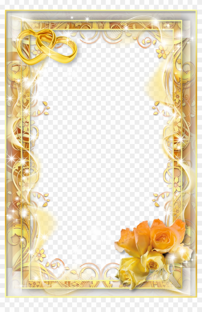 Yellow Wedding Png Photo Frame - Png Wedding Photo Frames - Free ...
