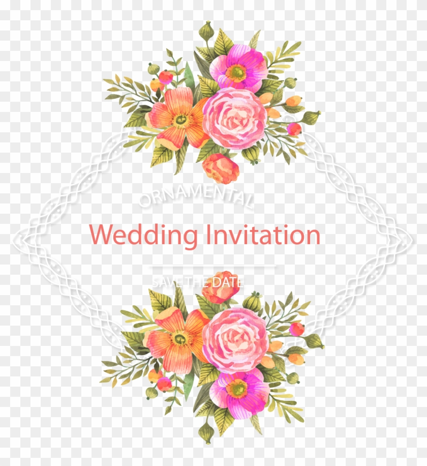 Wedding Invitation Flower Download - Flower Vector Free Download #868107
