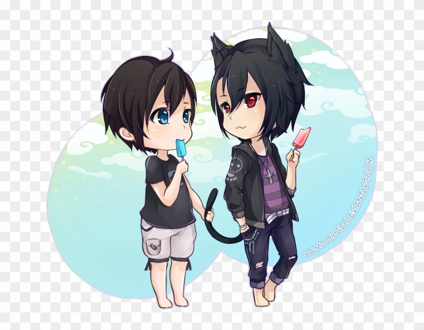 I Enjoyed Drawing Two Cute Guys In Chibi Style 2 Haha 2 Cute Boys Anime Free Transparent Png Clipart Images Download
