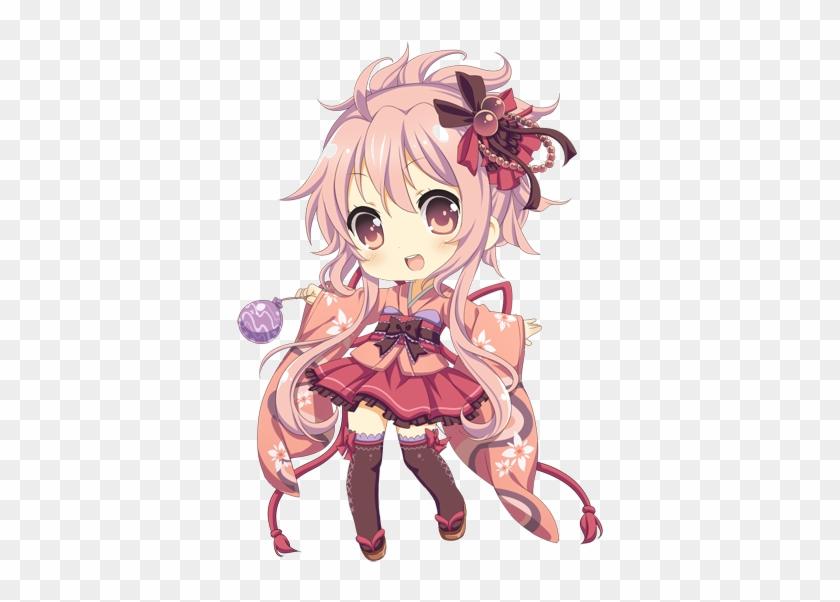 She Reminds Me Of An Anime Character I Created - Anime Girl Chibi Kimono #868210