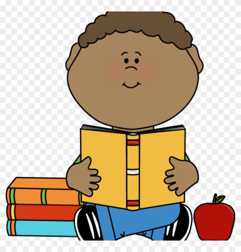 Child Reading Clipart Boy Reading Clip Art Little Boy - Boy Reading Book Clipart #868223