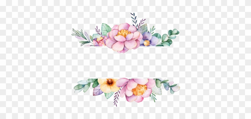 Watercolor Border, Watercolor Flowers, Watercolor Art, - Thank You For Coming Floral #868277