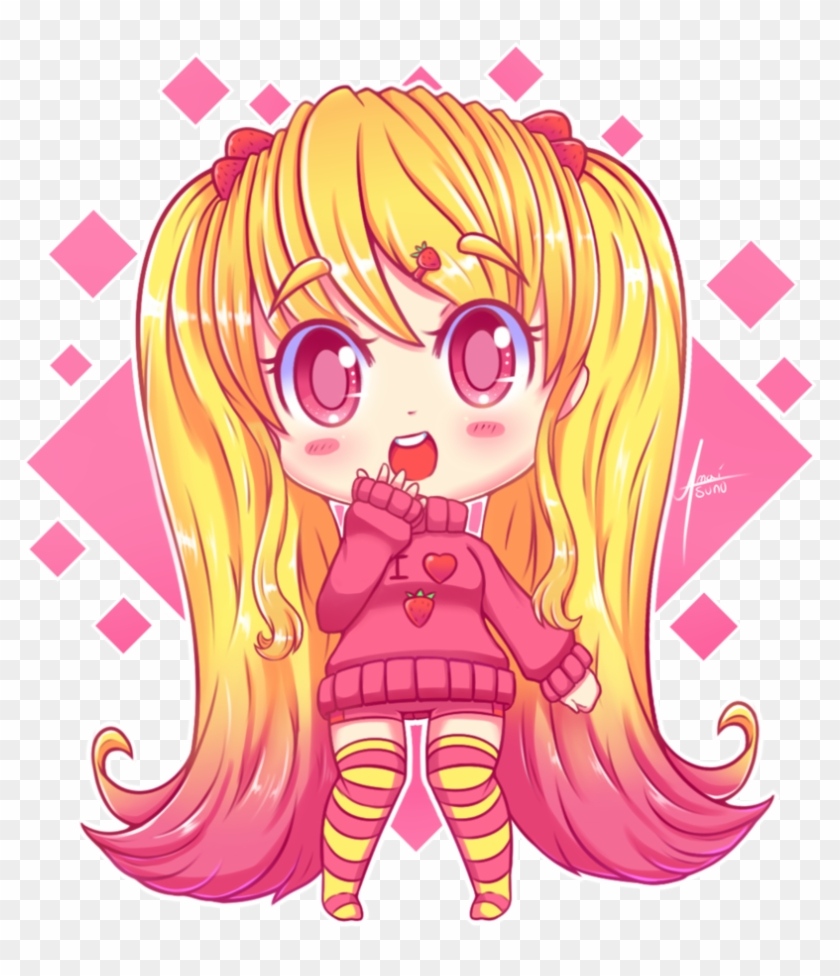 Lola by amaitsuno anime girl with blonde hair chibi 868310