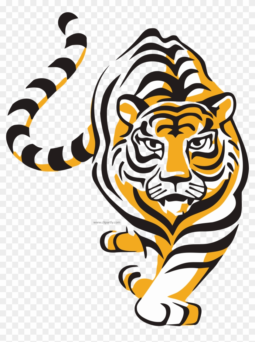 Tiger Vector Wild Clipart  - Tiger Walking Png - Free