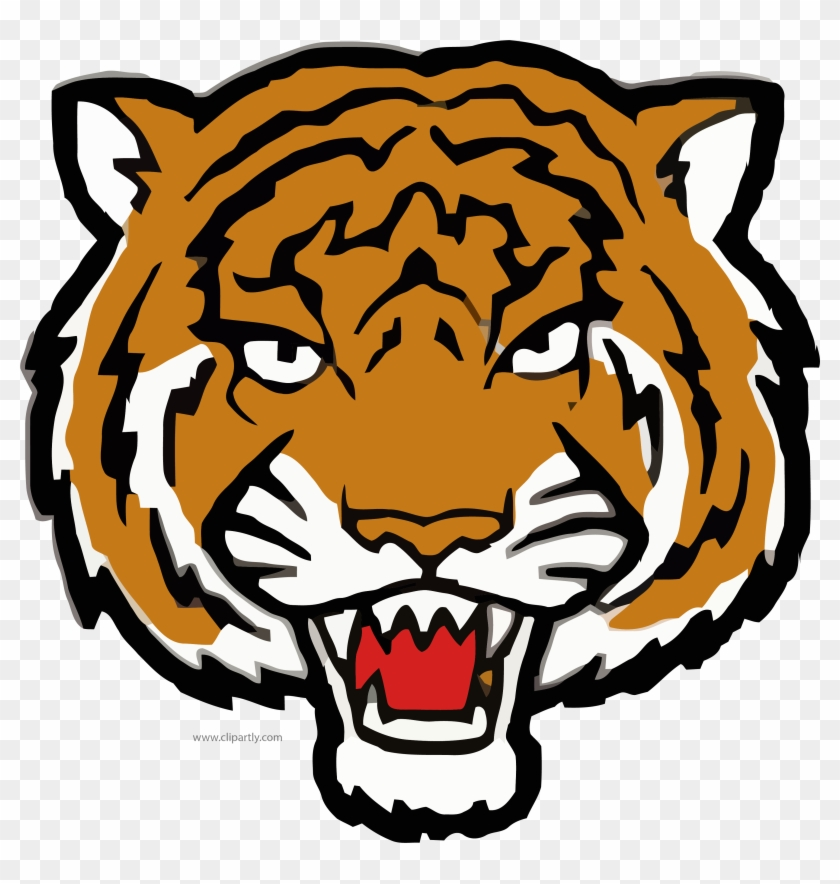 But Angry Tiger Face Clipart Png Image Www - Tiger Face Coloring Page #868506