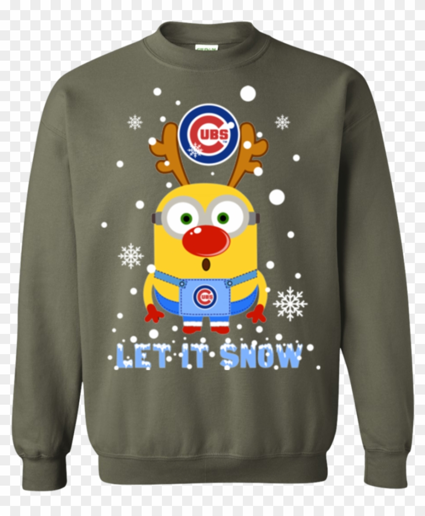minion chicago cubs ugly christmas sweaters let it sweater