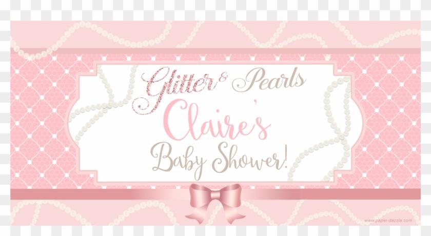 Glitter Pearls Baby Shower Banner For Onesie Shower - Bridal Shower #869576